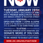 In NYC? Don't miss this mportant Haiti relief emergency benefit 	http://www.jdc.org/helphaitinow @jdcasli