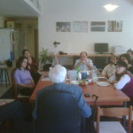 Ralph Goldman speaking to the staff of @presentense jerusalem