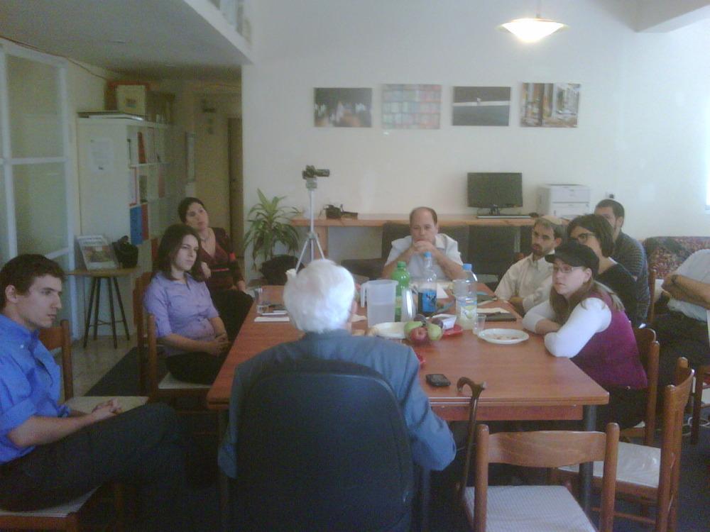 Ralph Goldman speaking to the staff of @presentense jerusalem