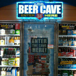 In Cleveland blizzard. No salt on the road but at least the gas station's got a Beer Cave!