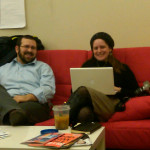 @naomifein and natefein at the nyc @presentense hub