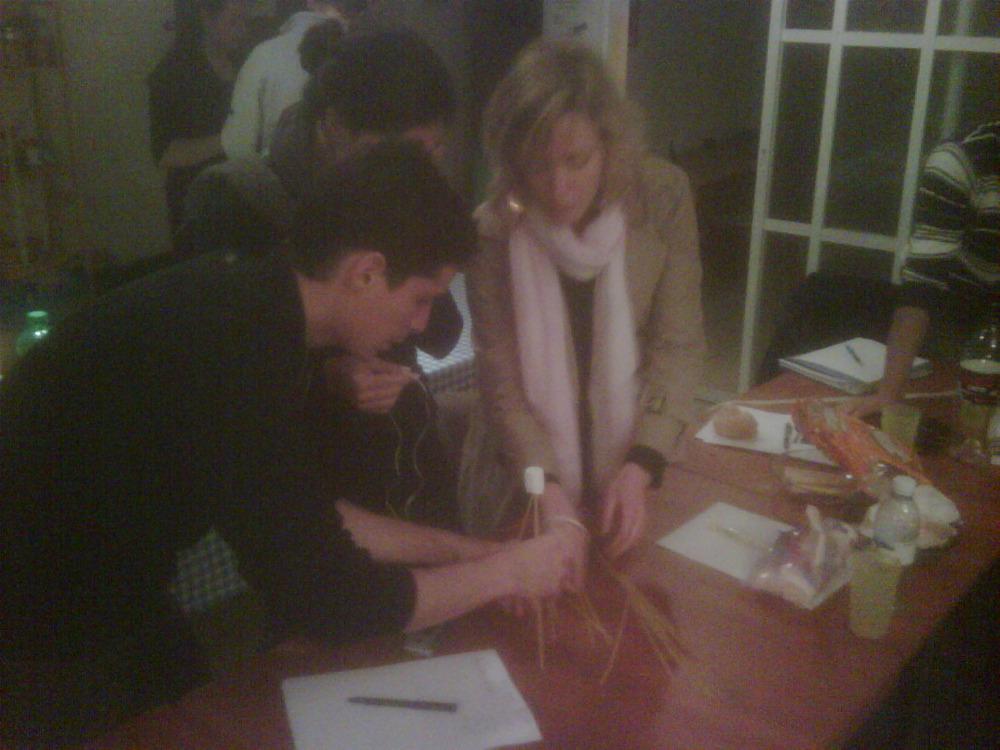@presentense Israel socialstarters begin the #marshmellowchallenge