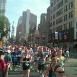Broad street run in Philly! (Trying to figure out how to cross the street...)