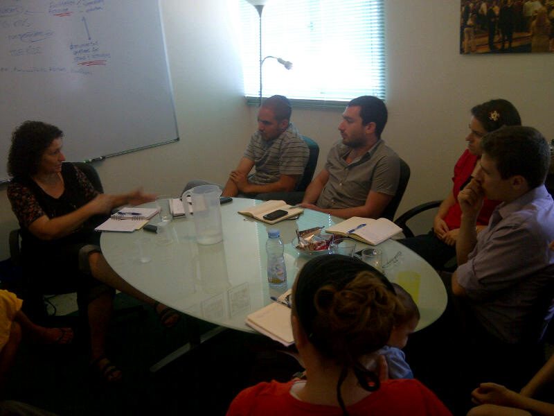 Ora Bitan from Beit Hagalgalim works with @presentense's israeli staff on vol. management