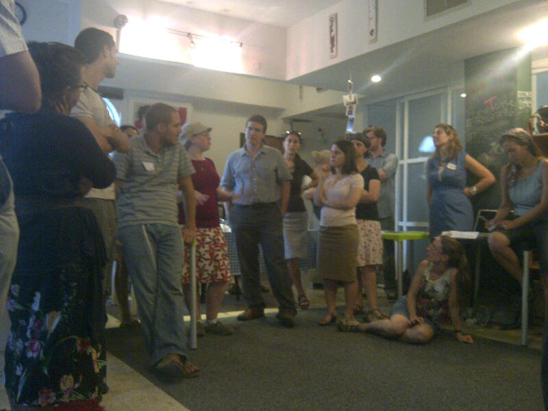 @presentense global fellows practice networking with staff and PT community members