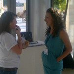 @Activistin and Rachel Brody prep pitches @presentense #launchnight