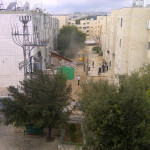 City of Jerusalem demolishing a neighbors illegal extension. Those are cops. Whoa!