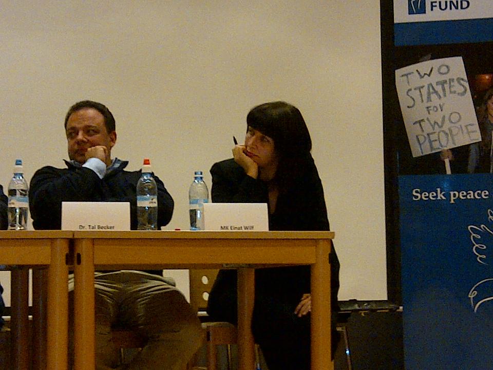 MK @einatwilf speaking at avi schaefer z'l kenes: debate over refugees is jewish debate